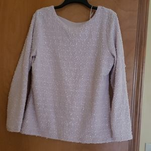 Sparkly pink pearl blouse